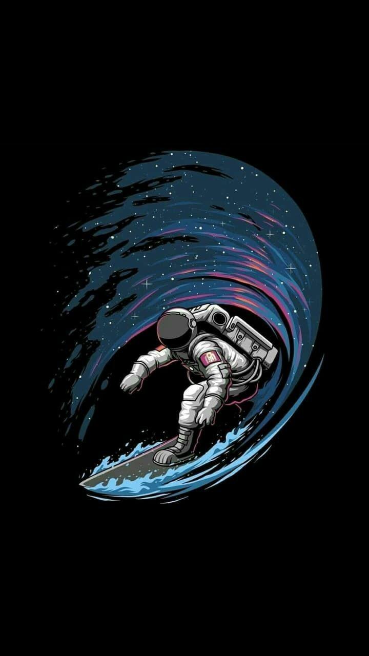 Download Wallpaper Wallpaper Astronot Selancar HD