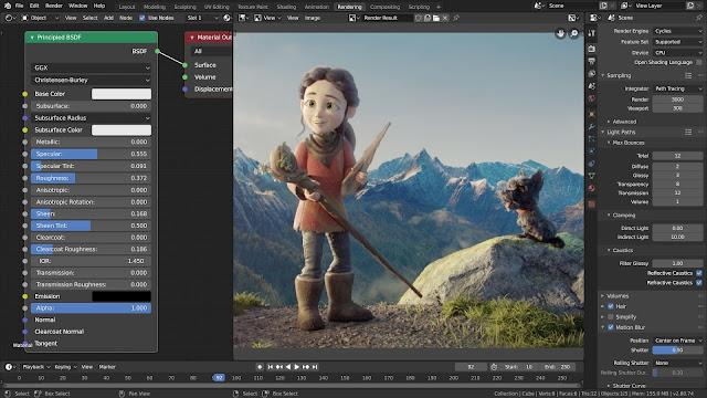 Blender alternatif 3D Max & AutoCAD di Linux