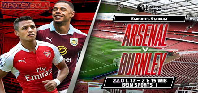 Prediksi Pertandingan Arsenal vs Burnley 22 Januari 2017