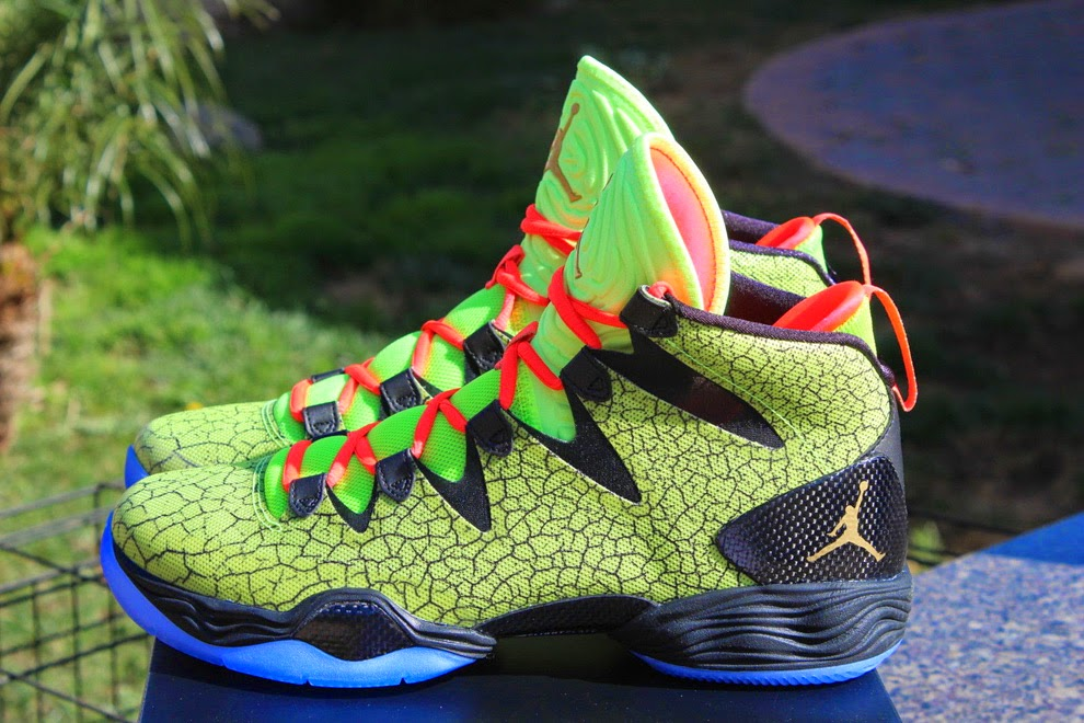 separation shoes 4fbbc 82f72 Air Jordan released a special colorway for the Air Jordan XX8 SE model, The  main color is Volt with bright orange laces and a icy blue sole, ...