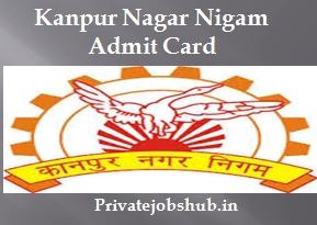 Kanpur Nagar Nigam Admit Card