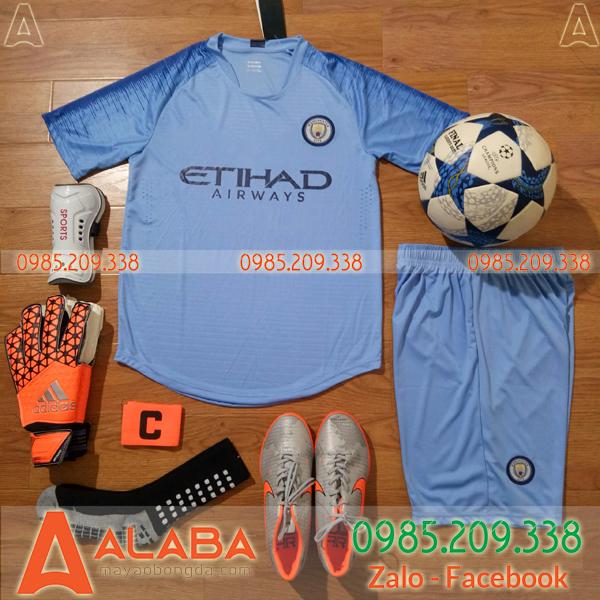 Áo CLB Man City sân nhà màu xanh