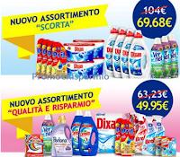 Logo Casa Henkel nuovi assortimenti Scorta e Qualità e Risparmio
