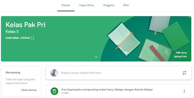 Membuat Kelas Daring dengan Google Classroom