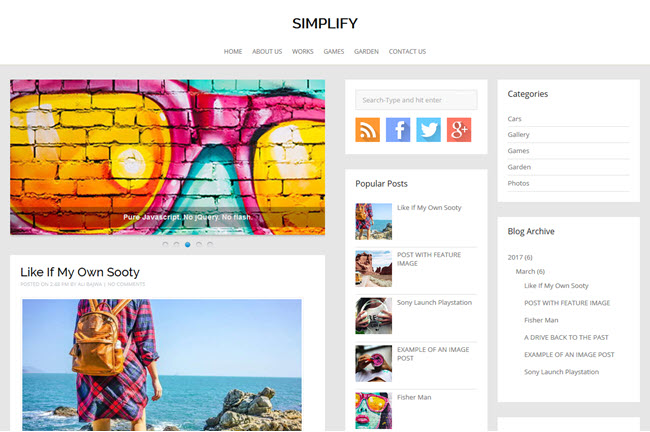 Simplify - Blogger Template