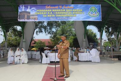 Kemenag Tanjungbalai Hadiri Peragaan Manasik Haji Akbar Tk. RA se Kota Tanjungbalai