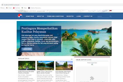 Sistem informasi Travel and Tour Berbasis Web Maskapai Gratis