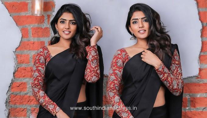 Eesha Rebba Pics In Black Saree Photos