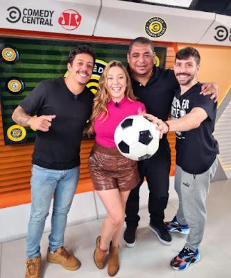 Da esq. para dir.: Renato Albani, Paula Vilhena, Vampeta e Rudy Landucci  Crédito: Divulgação