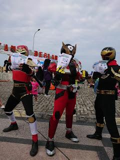Mereka Peduli e-Parkir - Kamen Rider dan Power Ranger - Tarakan Info