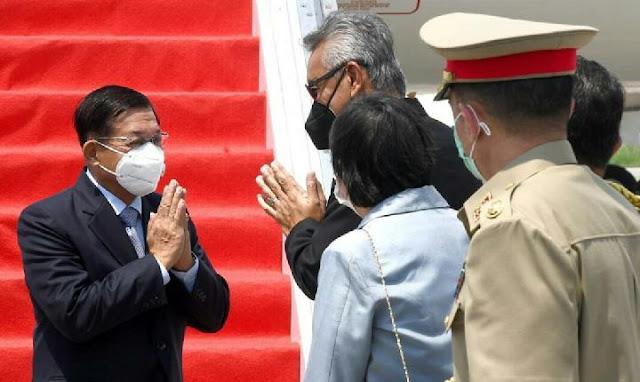 Pemimpin Junta Myanmar, Min Aung Hlaing Jelaskan Latar Belakang Krisis di KTT Asean.lelemuku.com.jpg