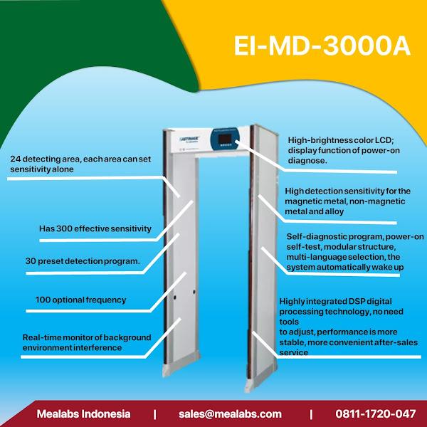 EI-MD3000A Walktrough Metal Detector