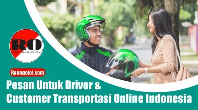 Pesan untuk driver dan penumpang