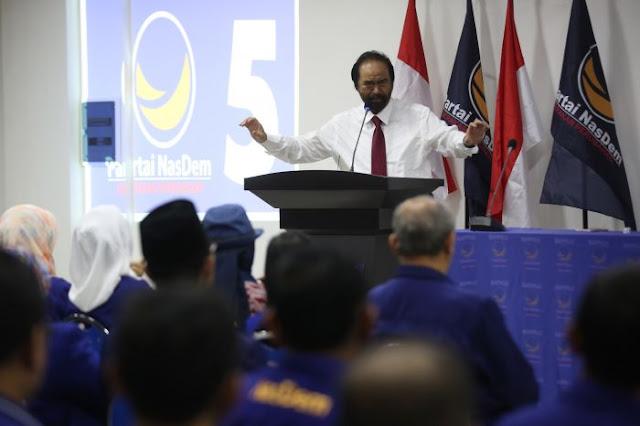 Surya Paloh Anggap Wajar Prabowo Sebut Pemerintahan Jokowi Salah Arah