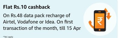 Amazon Pay Data Pack Recharge Offer