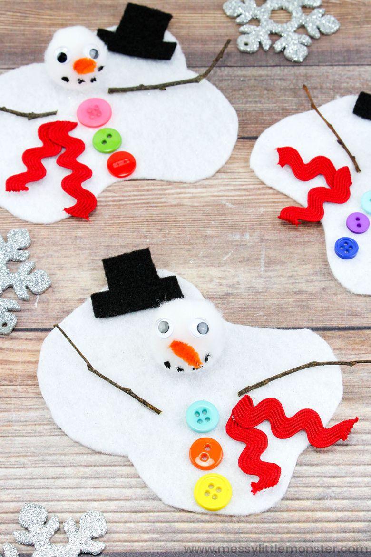 melting snowman winter craft for kids