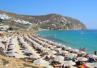 Myokonos beach, Greece