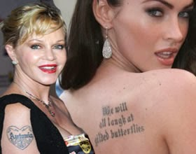 Melanie Griffith y Megan Fox tatuajes