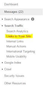 Cara Melihat Jumlah Backlink Blog Kita Di Google Webmaster Tools