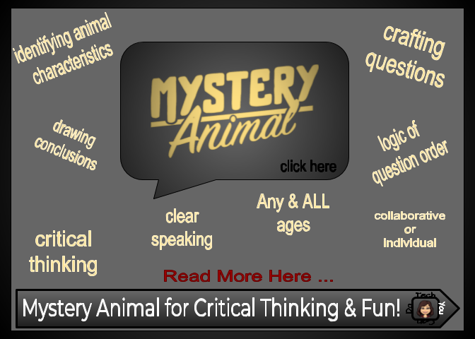 Tech You Can Do: Game + Critical Thinking = Mystery Animal!