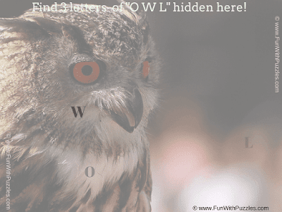 Answer of Find the Hidden Letters (O W L) Quiz