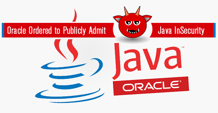 Oracle Ordered to Publicly Admit Misleading Java Security Updates