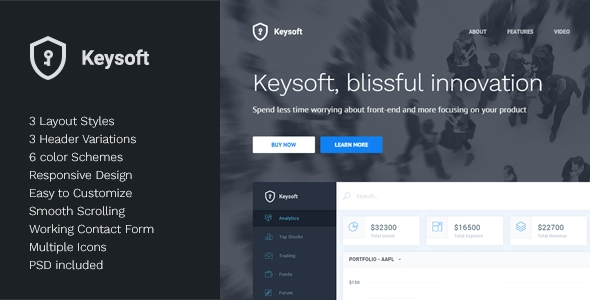 Download KeySoft Responsive Landing Page Template