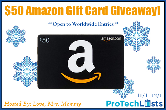 ProTechLists $50 Amazon Holiday Gift Card Giveaway