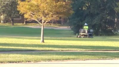 lawn mowing dude