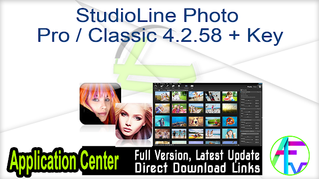 StudioLine Photo Pro Classic 4.2.58 + Key