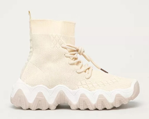 Pantofi Buonarotti inalti din material textil