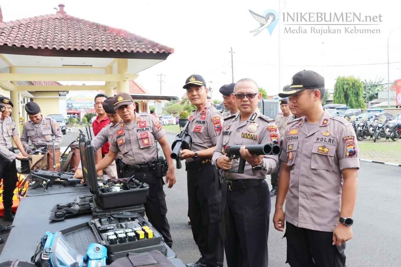 Jelang Nataru, Polres Kebumen Cek Seluruh Kendaraan Dinas