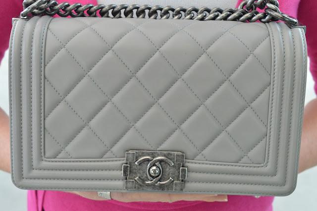 Sydney Fashion Hunter - The Wednesday Pants #41 - Light Grey Chanel Boy Bag