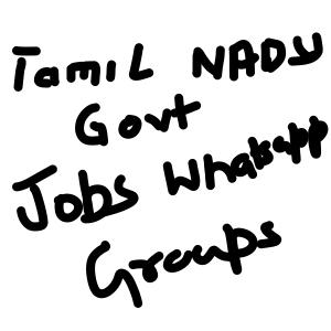 Tamil Nadu Government jobs Whatsapp Group Links