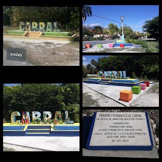 Hermoso parador fotográfico embellece entrada del municipio de Cabral