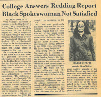 Newspaper article related to the Redding Report