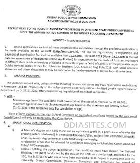 opsc application form for asst professor