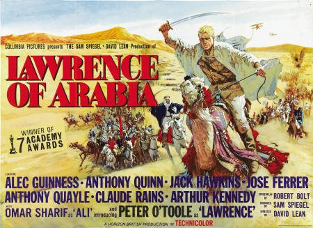 Original film poster Lawrence of Arabia 1962 movieloversreviews.filminspector.com