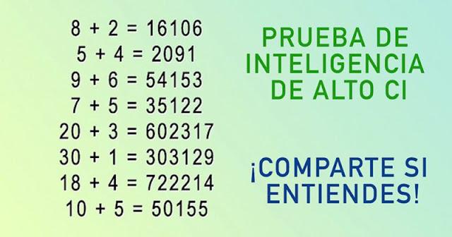 Las personas capaces de resolver este test tienen una inteligencia superior. ¿Te atreves?
