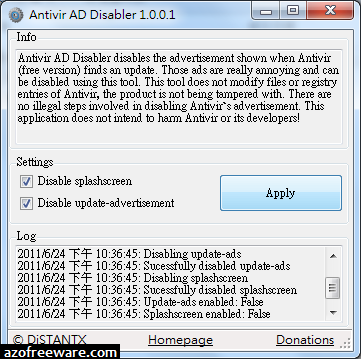 Antivir AD Disabler
