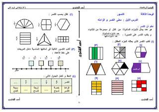 مذكرة المتميز للاستاذ احمد الشنتوري في الرياضيات للصف الثالث الابتدائي الترم الثاني
