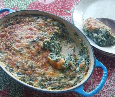 Cheesy Baked Creamed Spinach