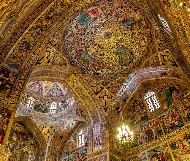 The wall painting of Vank Cathedral. Isfahan,Iran