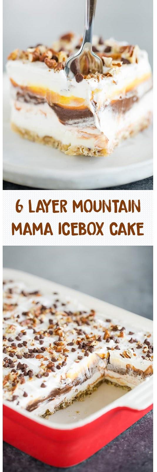 6 LAYER MOUNTAIN MAMA ICEBOX CAKE