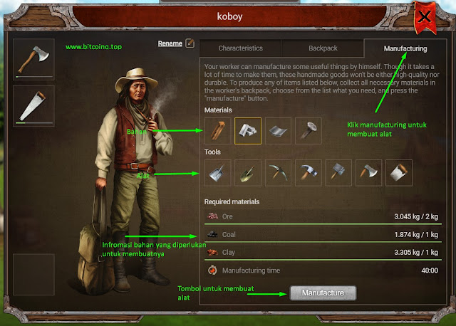 Tutorial Bermain Game Penghasil Dollar Bitcoin Prospectors