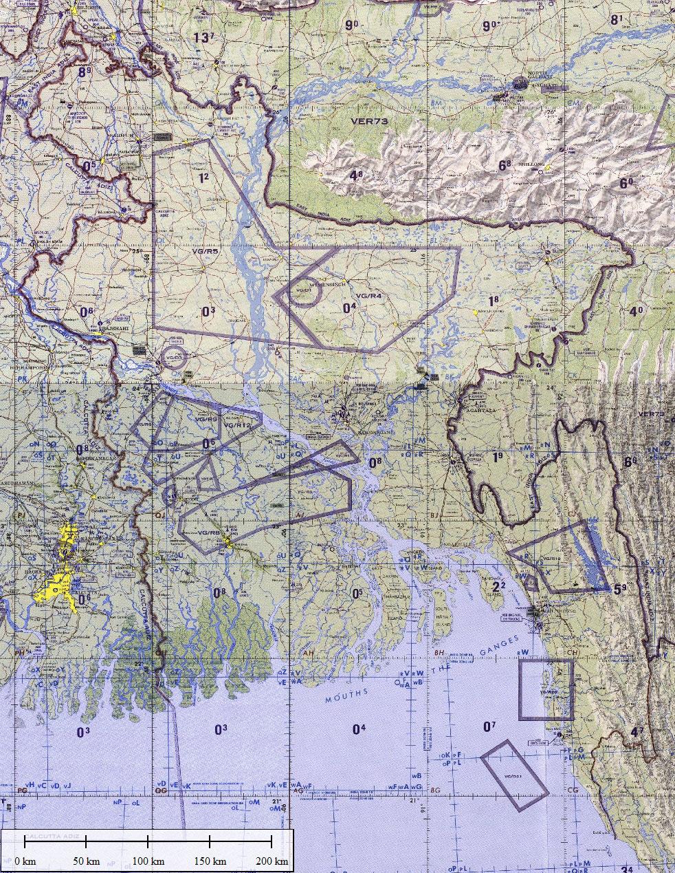 Navigation Charts Bangladesh