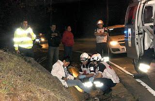 A motociclista lo dieron por muerto y de repente despertó