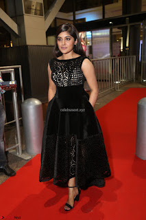 Niveda Thomas Black Sleeveless Cute Dress at 64th Jio Filmfare Awards South 2017 ~  Exclusive 128.JPG