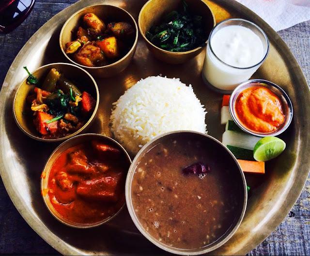 Nepali Food Dhal Bhat
