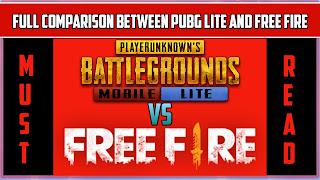 Free fire vs pubg mobile lite